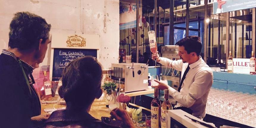 trade show cocktail bar